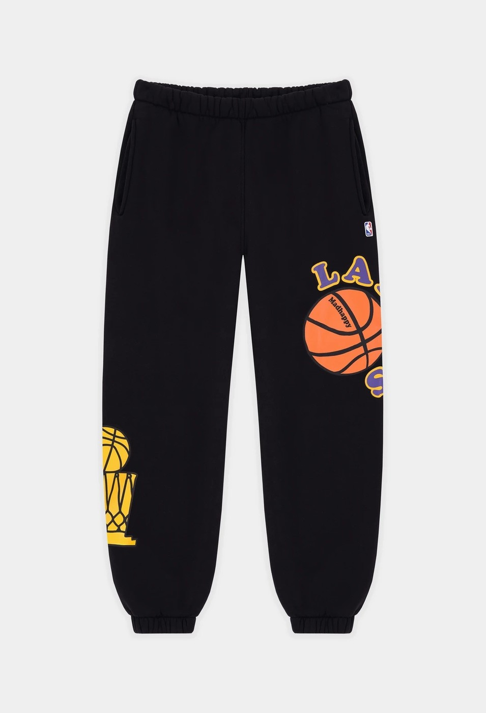 MADHAPPY x LAKERS HERITAGE SWEATPANT [SMALL] by MADHAPPY x L. A. LAKERS, available on grailed.com for $230 Gigi Hadid Pants Exact Product